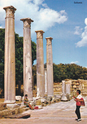 CYPRUS POSTCARD SALAMIS MARBLE FORUM FAMAGUSTA TORIKIAN FROM 1960s
