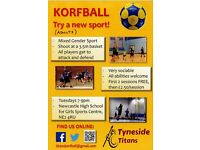 Looking to try a new sport? Join Tyneside Titans Korfball Team! First two sessions free!