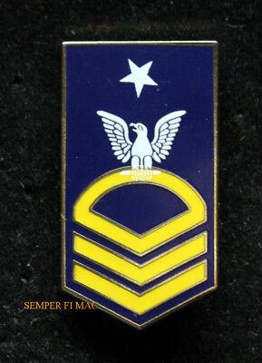 REGULATION SENIOR CHIEF PETTY OFFICER SCPO E8 LAPEL PIN US NAVY ENLISTED VETERAN