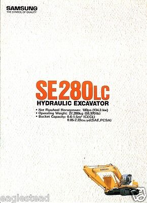 Equipment Brochure - Samsung - Se280lc - Hydraulic Excavator Eb130