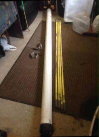 3mt lockable van storage tube (inc 4 drainage rods)