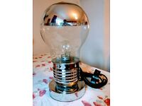 Light bulb touch table lamp with vintage bulb