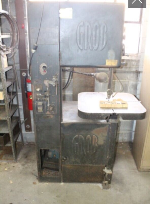 GROB VERTICAL BAND SAW MODEL NS18 with blade welder