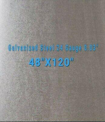 Galvanized Steel Sheet 24 Gauge 0.024 Inch0.63 Mm 48 X 120