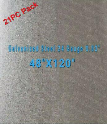 21pc Galvanized Steel Sheet 24 Gauge 0.024 Inch0.63 Mm 48 X 120
