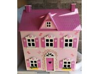 Wooden Doll's house and furniture