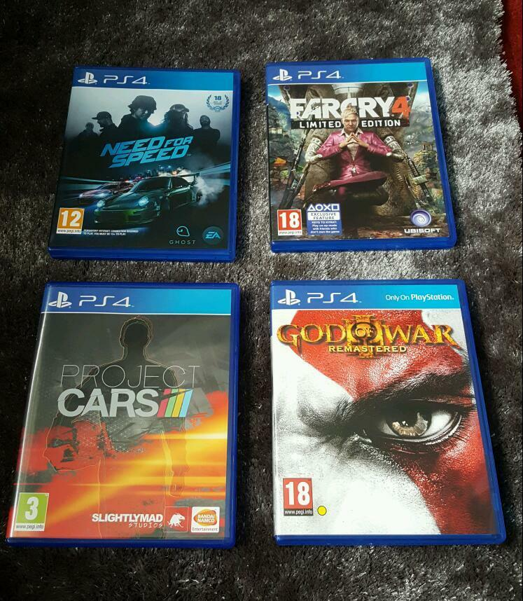 Ps4 Games God Of War Far Cry 4 Project Cars Amp Need For Speed Playstation 4 In Nuneaton
