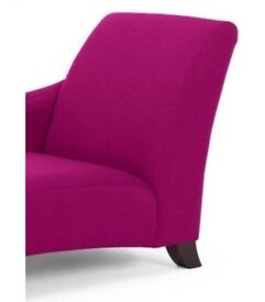 Left Hand Facing Chaise In Fuschia Pink