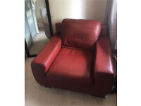 Quality Large Italian Designer Soft Red Leather Seat Chair Tattoo Nails Hairdresser