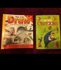 Two large books to teach kids to draw