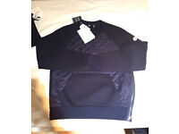 Moncler quilted panel sweatshirt small and medium mens new with invoice RRP: £335