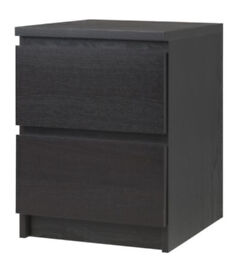 Ikea bed side cabinet/2 drawer (x2)