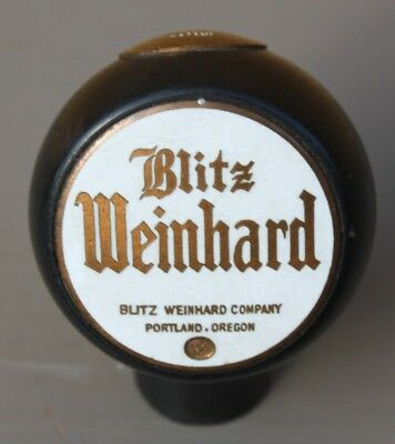 White Blitz-Weinhard Beer Ball Knob / Tap Handle Portland, Oregon