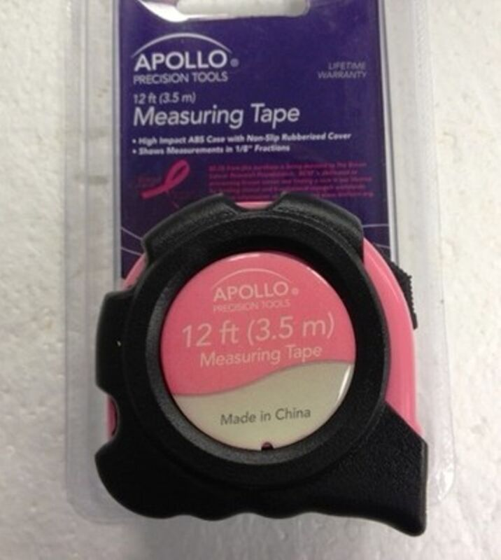 APOLLO PINK 12 FOOT TAPE MEASURE DT7201P