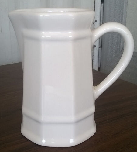 Pfaltzgraff White Heritage Cream Syrup Sauce Small Pitcher Vintage
