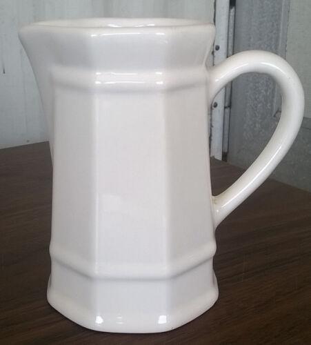 Pfaltzgraff White Heritage Cream Syrup Sauce Small Pitcher Vintage