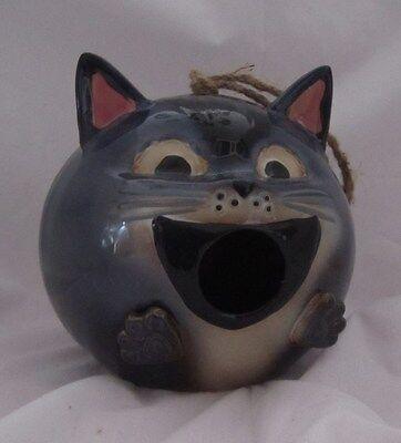 Yankee Candle Cat Face Kitten Bird Feeder NEW