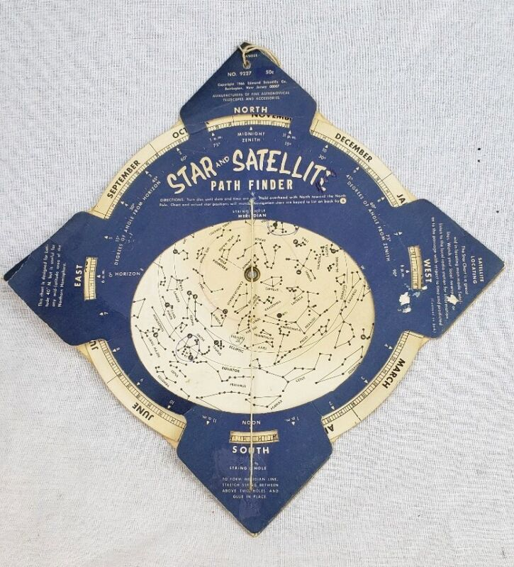 Vintage 1966 EDMUND SCIENTIFIC CO STAR & SATELLITE PATH FINDER