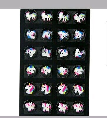 12 Pairs/Set Unicorn Ear Stud Earrings Kids Girl Women Round Party Jewelry Gift Girls Earrings Set