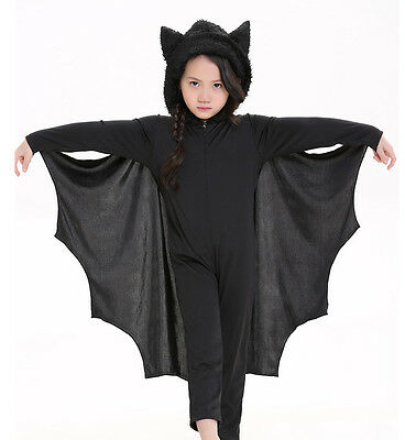 Kids Cosplay Black Bat Costumes Party Carnival Halloween Costumes for Boys Girls