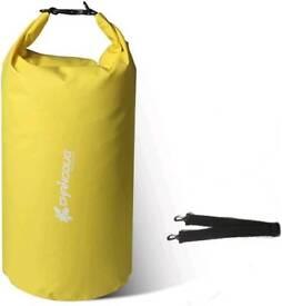 30L Yellow 600D PVC Tarp Waterproof Dry Bag Sacks With Long Adjustable Shoulder Strap