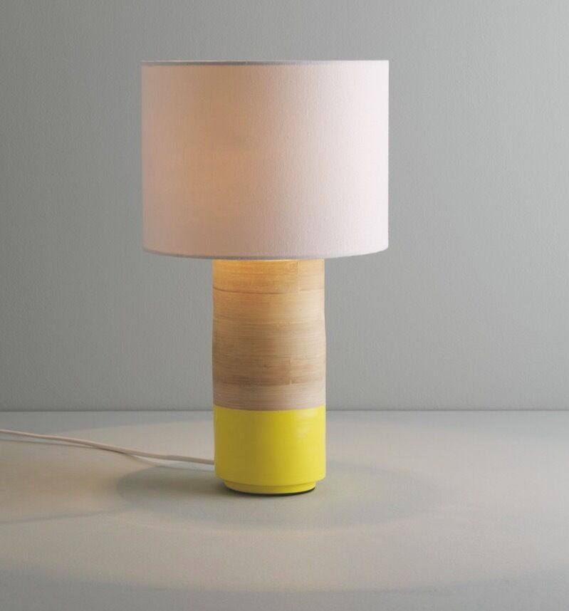 Habitat Bedside Lamps : Habitat tub lamps in bamboo with yellow lacquered tip