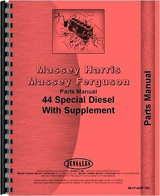 Massey Harris 44 Diesel With Hydraulics Tractor Parts Manual Mh-p-44sp Dsl
