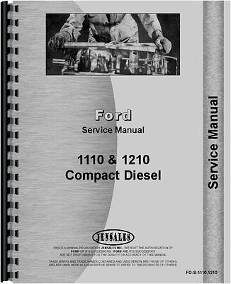 Ford Tractor Service Manual 1110 Tractor 1210 Tractor Fo-s-11101210