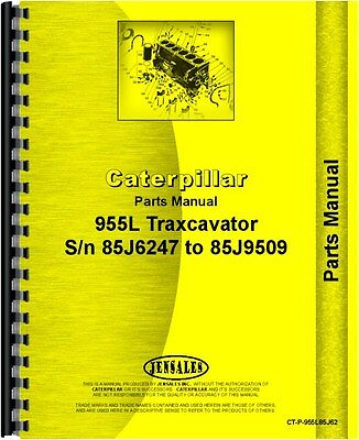 Caterpillar 955l Traxcavator Parts Manual Sn 85j6247-85j9509
