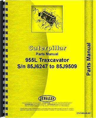 Caterpillar 955l Traxcavator Parts Manual Sn 85j6247-85j9509