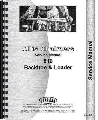 Allis Chalmers 816 Tractor Loader Backhoe Service Manual Ac-s-816