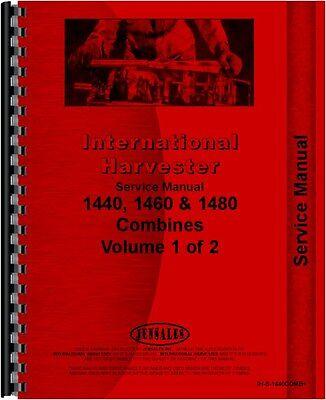 International Harvester 1440 1460 1480 Combine Service Manual Ih-s-1440comb