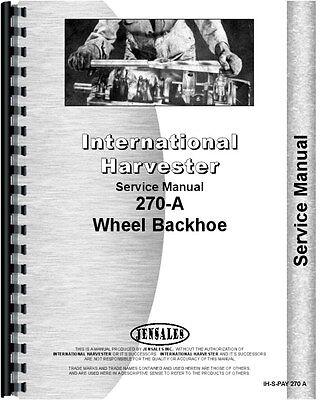 International Harvester 270a Pay Loader Service Manual