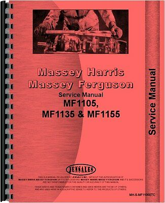 Massey Harris Massey Ferguson Tractor Service Manual For 1105 1135 And 1155