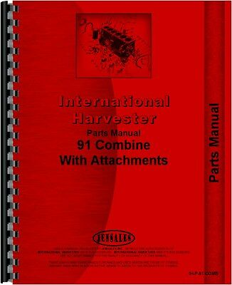 International Harvester 91 Combine Parts Manual