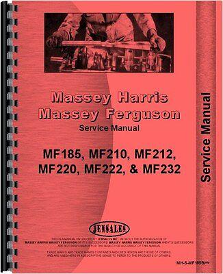 Massey Ferguson 185 210 220 Backhoe Attachment Service Manual Mh-s-mf185bh