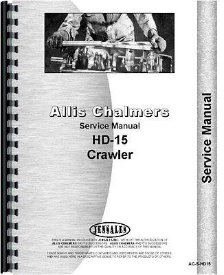 Allis Chalmers Hd-15 Crawler Service Manual