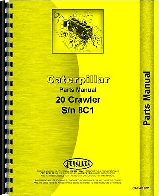 Caterpillar 20 Crawler Parts Manual Sn 8c1