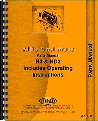 Allis Chalmers H3 Hd3 Crawler Parts Manual Ac-p-h3hd3