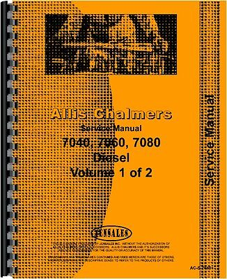 Allis Chalmers 7040 7060 7080 Tractor Service Manual Ac-s-7040