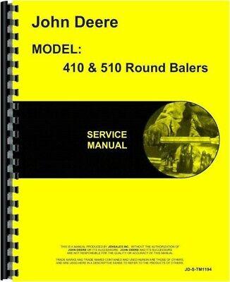 John Deere 410 510 Round Baler Service Repair Shop Manual Tm1194