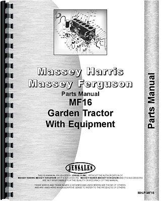 Massey Ferguson 16 Lawn Garden Tractor Parts Manual
