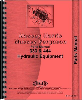 Massey Harris 333 Hydraulic Equipment Parts Manual Mh-p-hyd 333