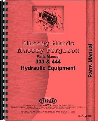 Massey Harris 333 Hydraulic Equipment Parts Manual Mh-p-hyd 333