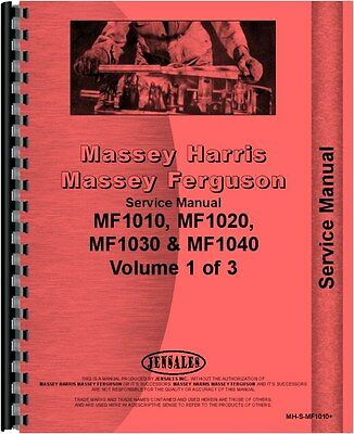 Massey Ferguson 1010 1020 1030l 1035 1040 1045 Tractor Service Manual