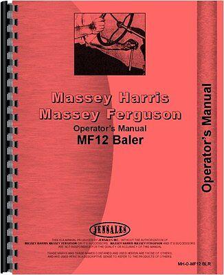 Massey Ferguson 12 Baler Operators Manual Mh-o-mf12 Blr