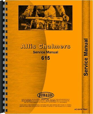 Allis Chalmers 615 Tractor Loader Backhoe Service Manual  Ac-s-615 Trac