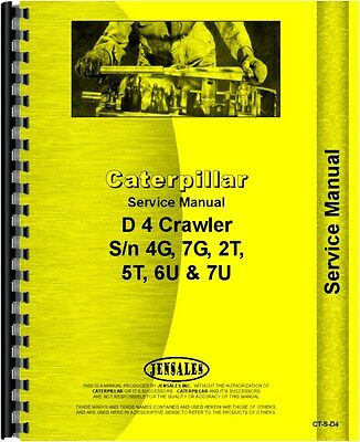 Caterpillar 955 Traxcavator D4 Rd4 Service Manual Ct-s-d4