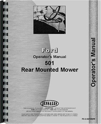 Ford 501 Sickle Bar Mower Operators Manual