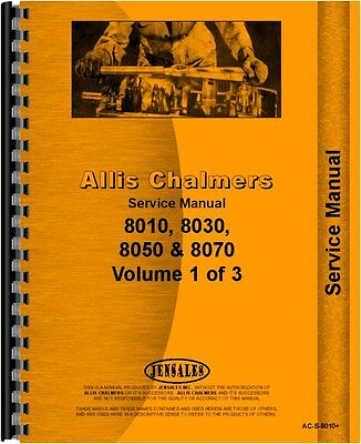 Allis Chalmers 8010 8030 8050 8070 Tractor Service Manual Ac-s-8010